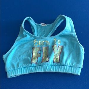 Born to fly sports bra